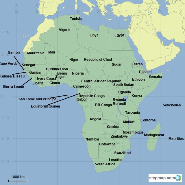 African Union Map.Stepmap African Union Landkarte Fur Africa