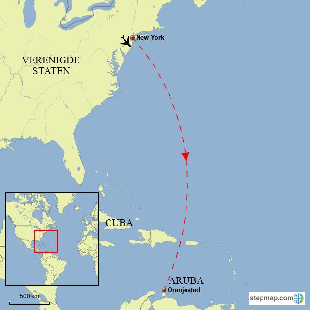 StepMap - Aruba - Landkarte für World