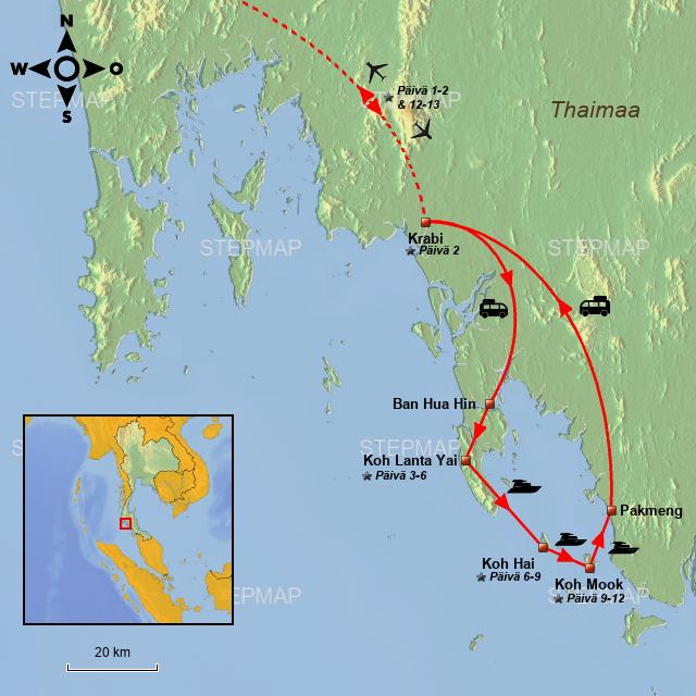 StepMap - Asiatours, Thailand, Ø-hop Koh Lanta, Koh Hai
