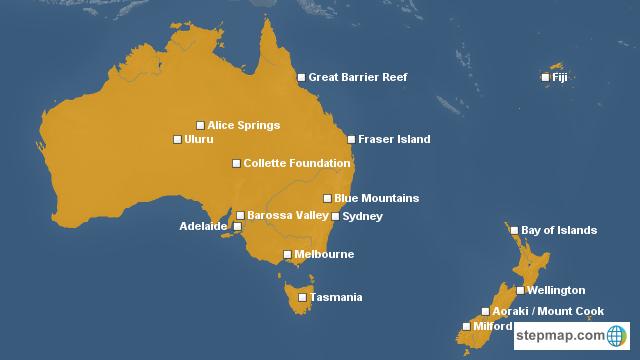Map Australia And New Zealand.Stepmap Australia New Zealand Landkarte Fur Australia