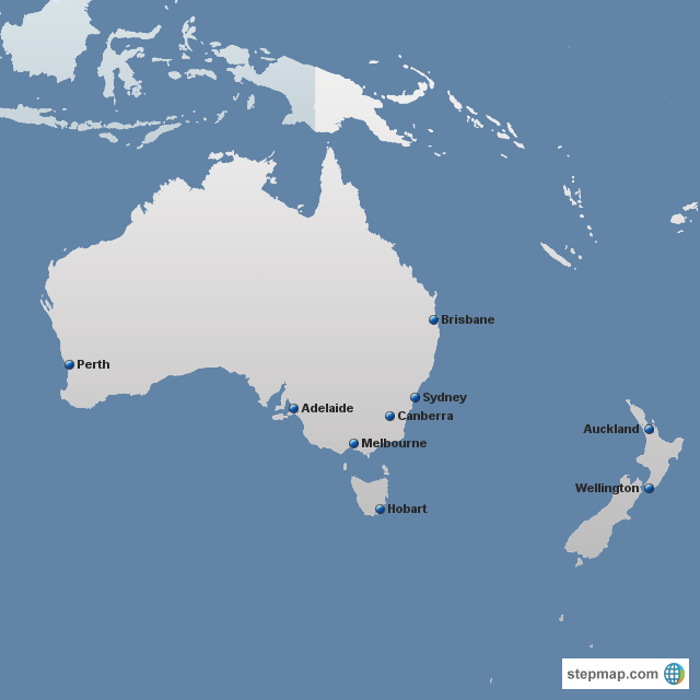 Stepmap Australia And New Zealand Case Study Cities
