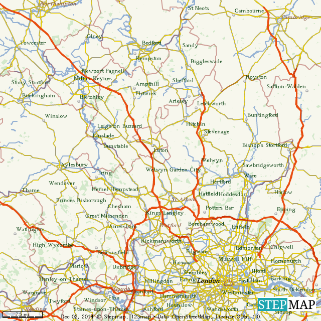 StepMap - B2B Sales Map - Landkarte für World on country maps, sales area maps, sales geography maps, phone maps,