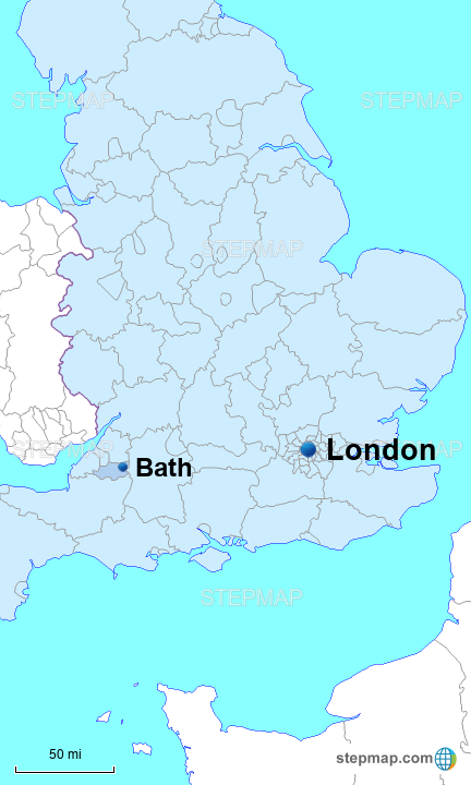 London In England Map.Stepmap Bath London England Landkarte Fur Great Britain