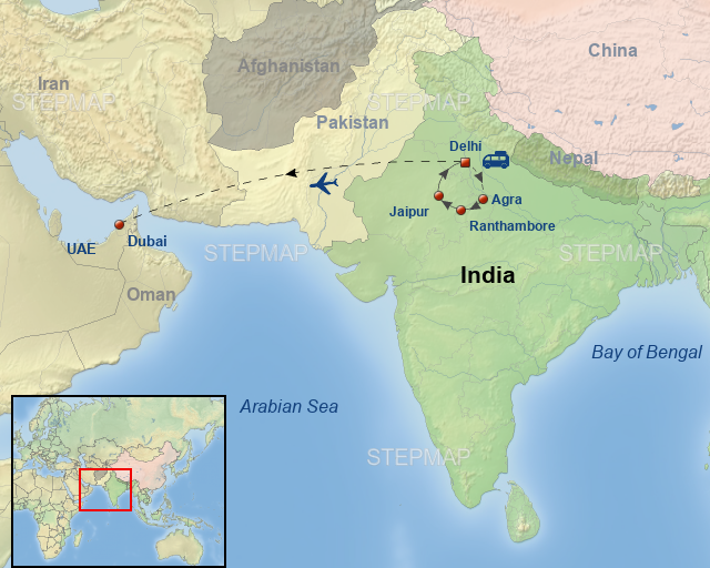 StepMap - Best Of India And Dubai