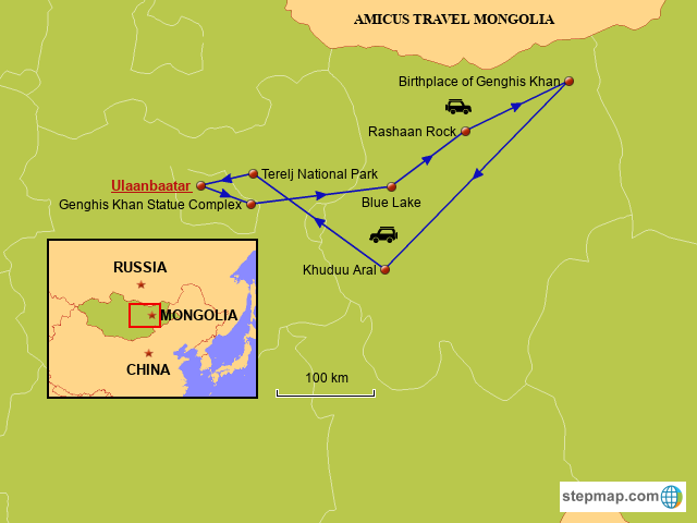 Birthplace-of-Genghis-Khan-Tour-Map-1336