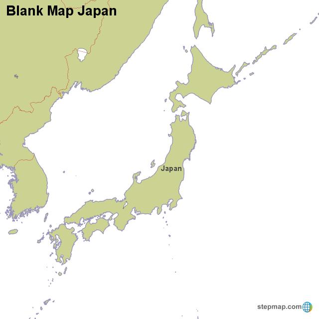 StepMap - Blank Map Japan - Landkarte für Japan