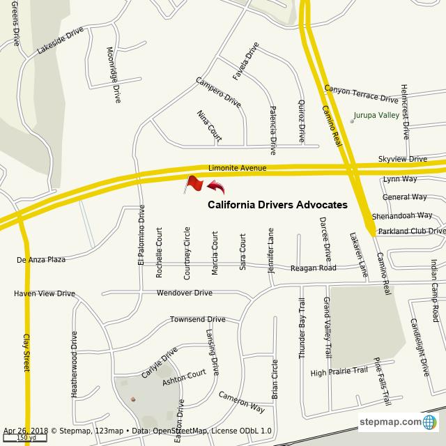 StepMap - California Drivers Advocates - Landkarte für World