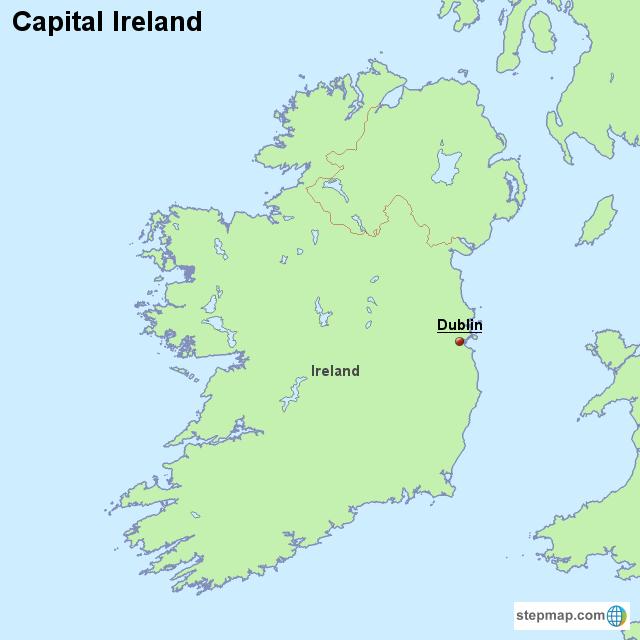 Stepmap Capital Ireland Landkarte Fur Ireland