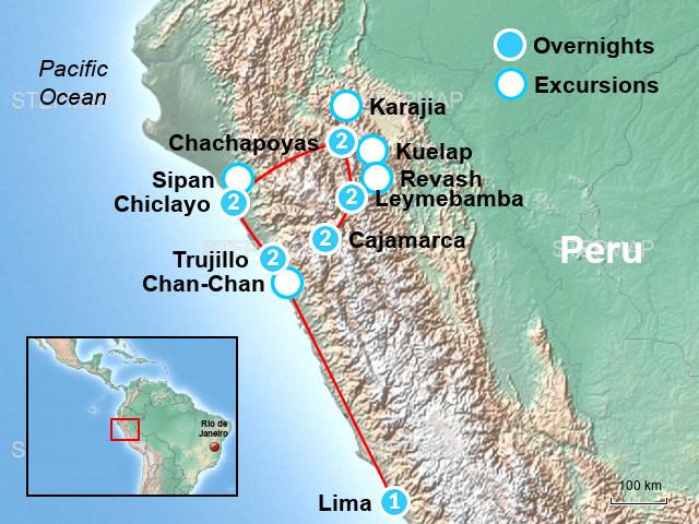 Chan Chan Peru Map.Stepmap Chan Chan Trujillo Kuelap Peru Tour Knp Landkarte Fur