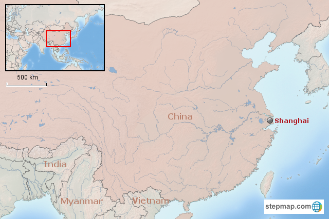 StepMap - China B Shanghai: back to the future - Landkarte ... on 2015 map of london, 2015 map of asia, 2015 map of singapore,