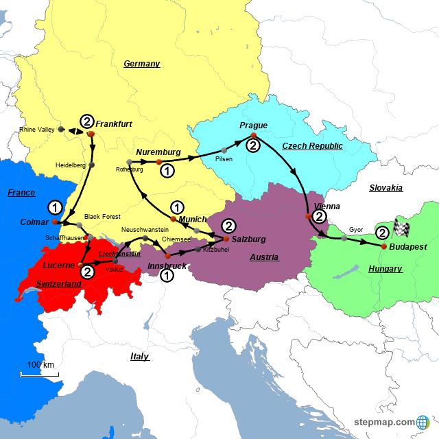 Salzburg Christmas Market Map.Stepmap Christmas Markets 2016 Landkarte Fur Germany