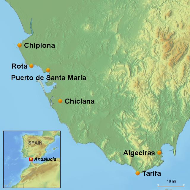 Costa De La Luz Spain Map.Stepmap Costa De La Luz Landkarte Fur Spain