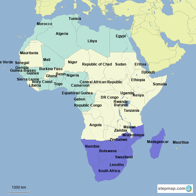 Stepmap Current African Business Landkarte Fur Africa