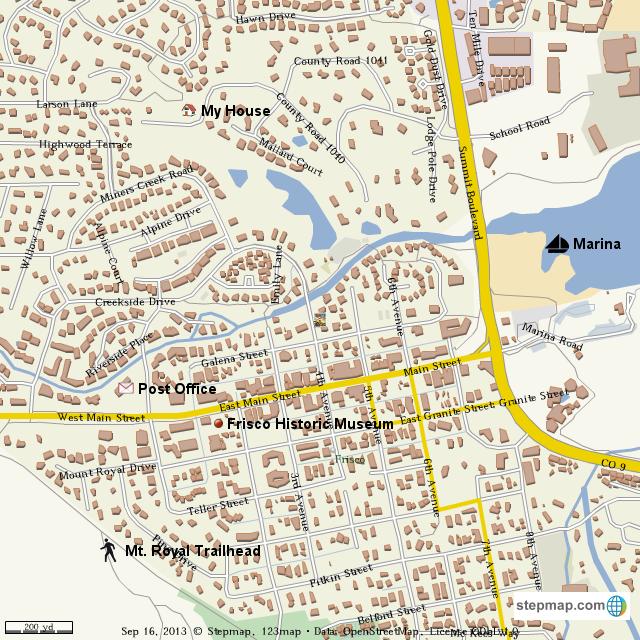 StepMap - Digital Planet Cl Frisco, Colorado map. Kari Mattson ... on