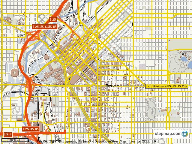 Denver World Map.Stepmap Downtown Denver Map Landkarte Fur World