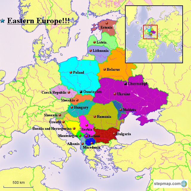 StepMap - Eastern Europe!!! - Landkarte für Europe on topological map of eastern europe, geography map of eastern europe, geopolitical map of central europe, geological map of eastern europe, tactical map of eastern europe, history map of eastern europe, ethnic map of eastern europe, ecological map of eastern europe, strategic map of eastern europe,