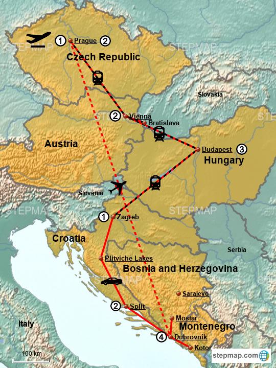 StepMap - Eastern Europe 2018 - Landkarte für Croatia