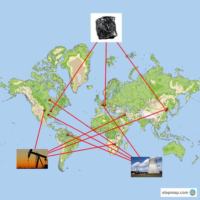 StepMap - Energy Consumption - Landkarte für World