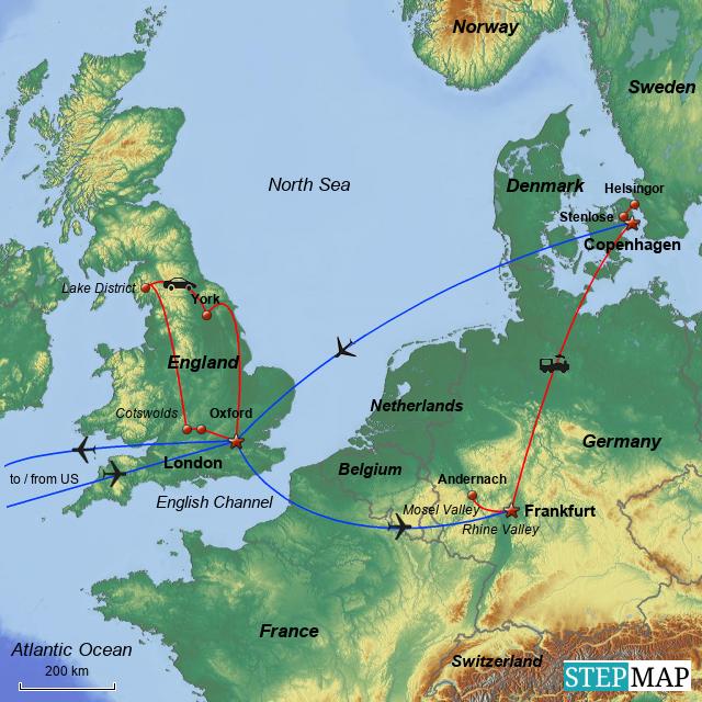 Map Of England Germany.Stepmap England Germany Denmark 1979 Landkarte Fur Germany