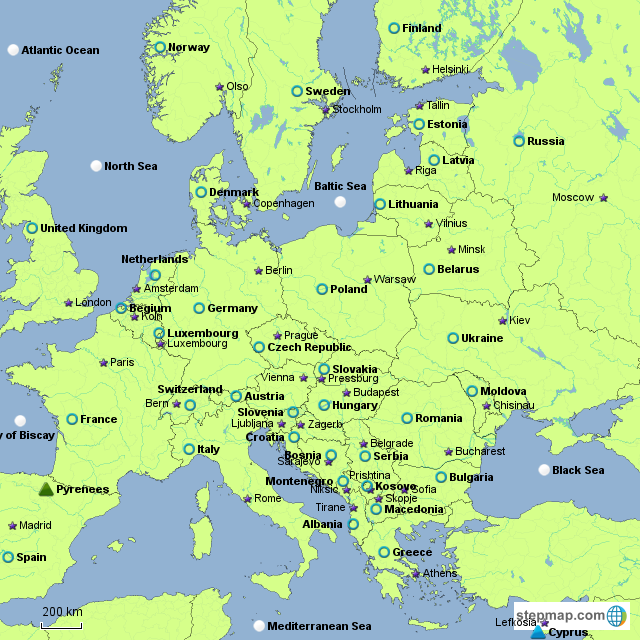 Stepmap Europe Part 1 Landkarte Fur Europe