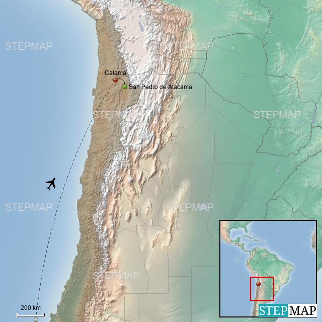 StepMap - Exploring Atacama Desert - Landkarte für Chile