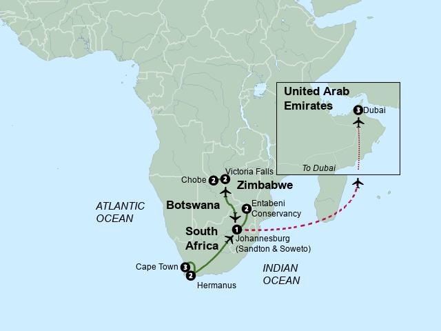 Map Of Africa Victoria Falls.Stepmap Exploring South Africa Victoria Falls And Botswana 2015