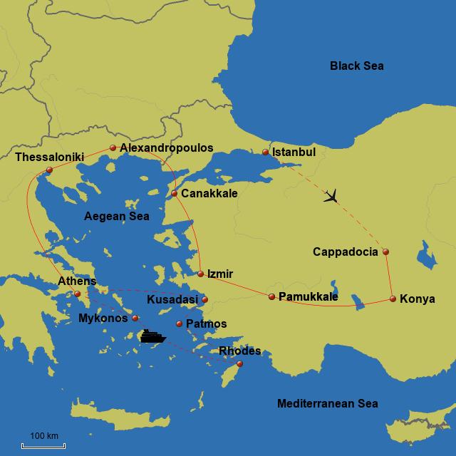 StepMap - FSP16 Greece & Turkey - Landkarte für Greece