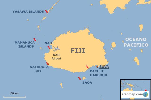 World Map Of Fiji