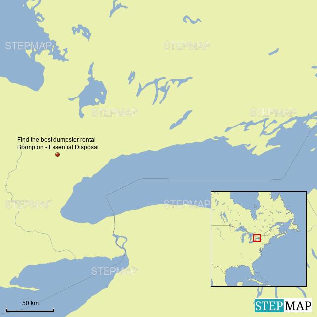 Brampton Canada Map.Stepmap Find The Best Dumpster Rental Brampton Essential