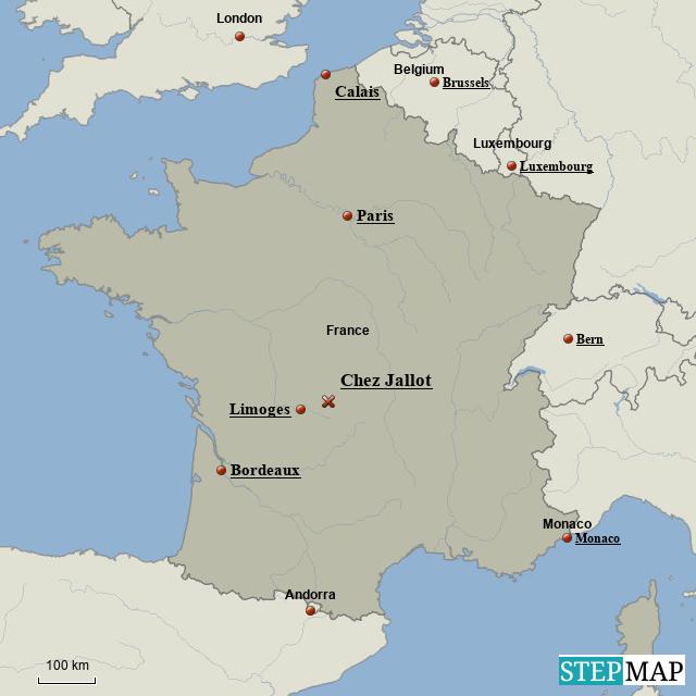 Stepmap France Overview Landkarte Fur France