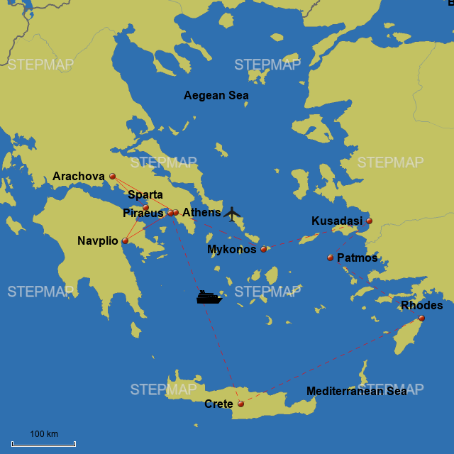 Stepmap Grec Odyssey Through Ancient Greece Landkarte