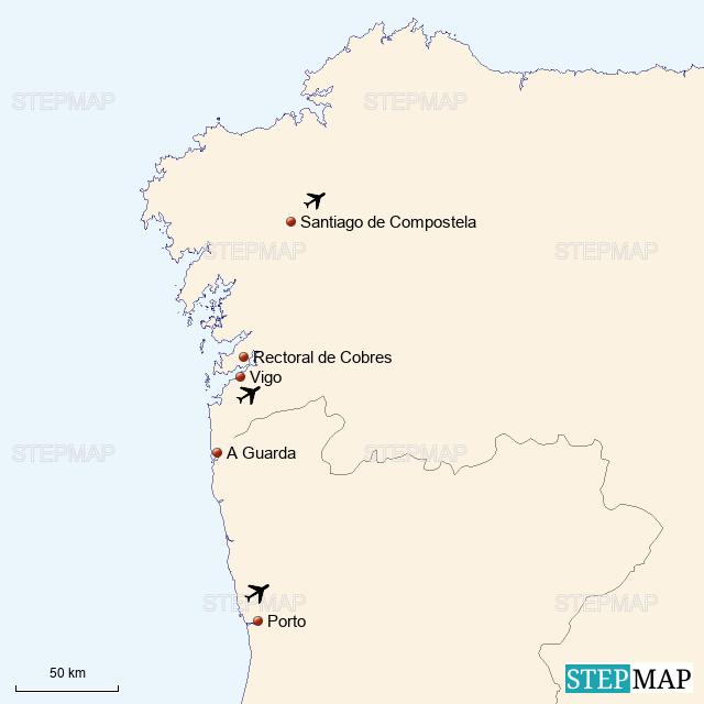 StepMap - Galicia and Portugal - Landkarte für Spain on pale of settlement, wallachia map, asturias map, malopolska map, catalonia espana map, rheinhessen map, galician map, picos de europa map, castilla la vieja map, la rioja map, ukraine map, carpathian mountains map, andalucia map, east prussia map, santiago de compostela map, poland election map, karachay-cherkessia map, taras shevchenko, bohemia map, duchy of warsaw, carpathian ruthenia, kingdom of galicia and lodomeria, carpathian mountains, second polish republic, spain map, norte map, catalonia france map,