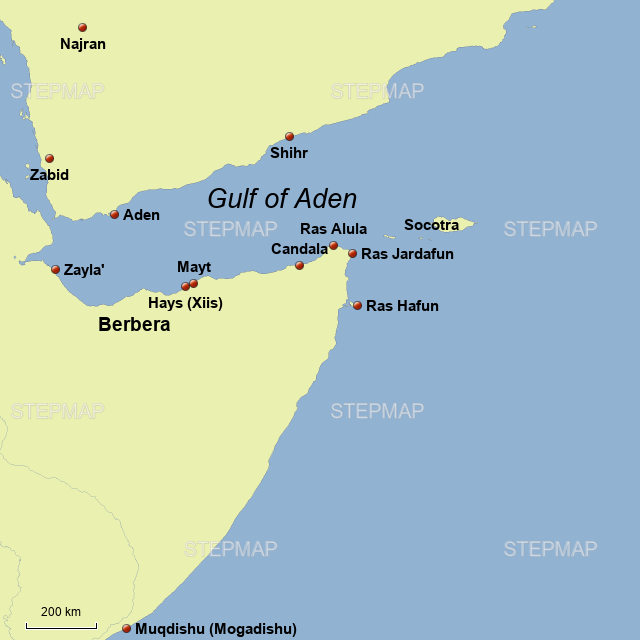 StepMap - Gulf of Aden in the Book of Curiosities - Landkarte für ...
