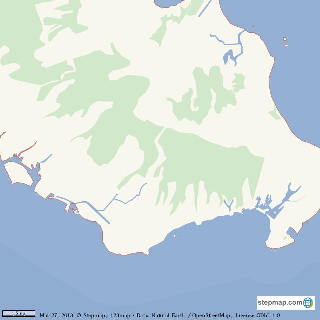 Stepmap Honolulu Unmarked Landkarte Fur World