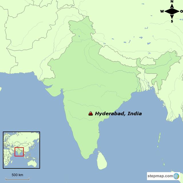 Hyderabad On India Map.Stepmap Hyderabad Landkarte Fur India