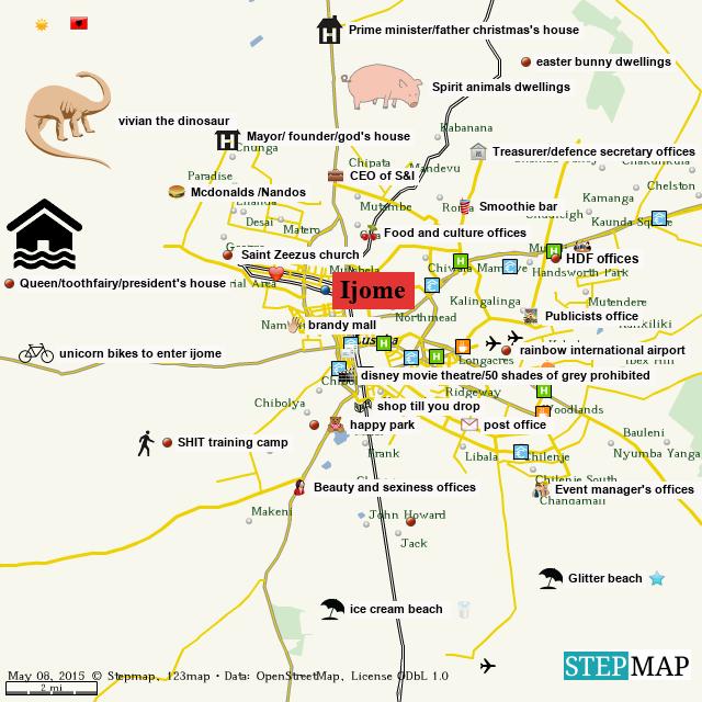 StepMap - Ijome map - Landkarte für World