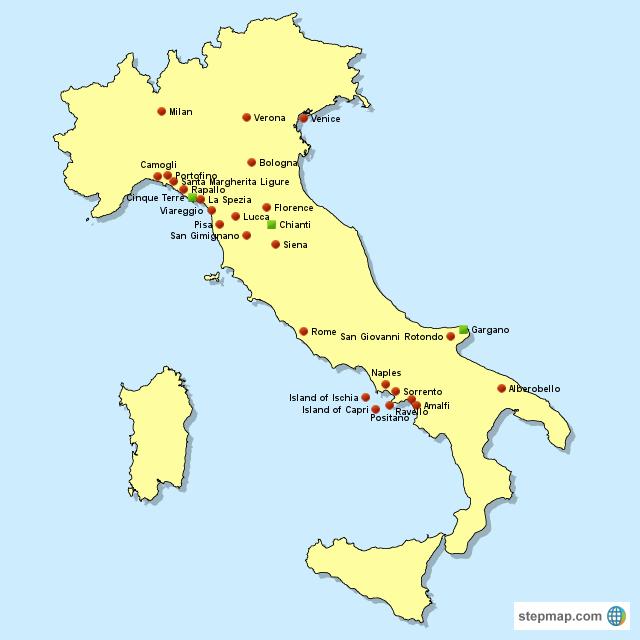 Stepmap Italy Map Landkarte Fur Italy
