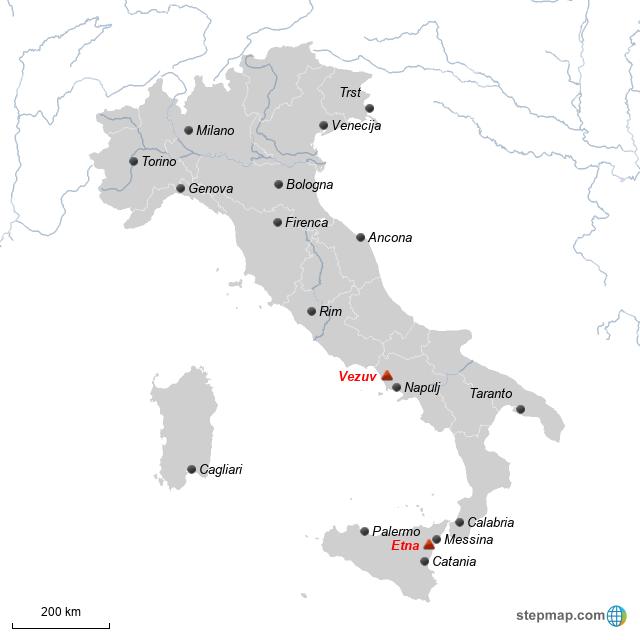 StepMap - Italy cities - Landkarte für Italy