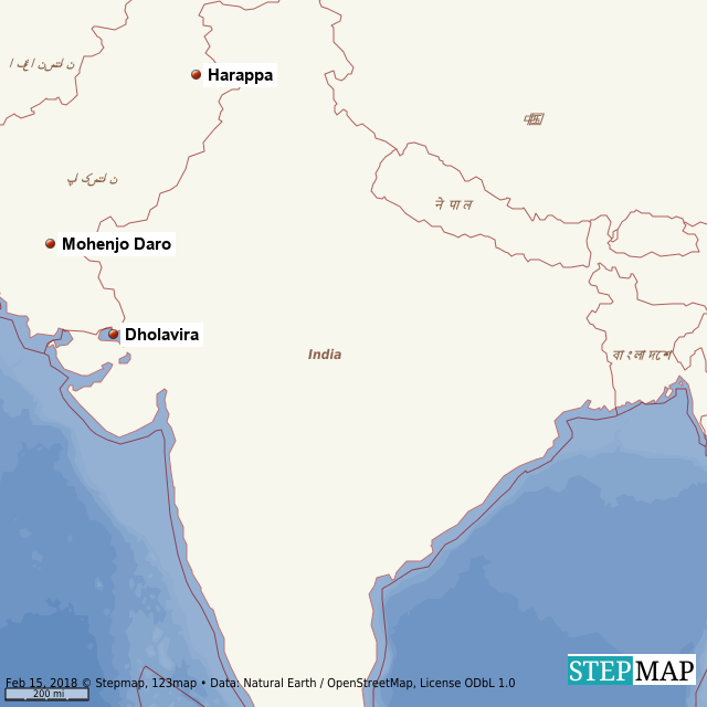 StepMap - Key Indus Valley Sites - Landkarte für World on iberian peninsula on a world map, rain on a world map, goa on a world map, persian empire on a world map, himalayan mountains on a world map, former ussr on a world map, sumer on a world map, mesoamerica on a world map, arabian gulf on a world map, carpathian mountains on a world map, maya on a world map, athena on a world map, taklamakan on a world map, taj mahal on a world map, central asia on a world map, aleutians on a world map, south america on a world map, babylon on a world map, inca on a world map, bombay on a world map,