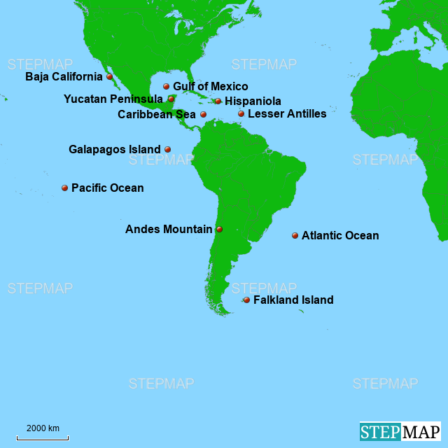 StepMap - Landforms and Oceans - Landkarte für South America on map of florida oceans, africa oceans, world map oceans, map of pacific oceans, map of australia oceans, europe map oceans, map of western hemisphere oceans, map of england oceans, map of north oceans, map of asia oceans, map of brazil oceans, map of lithuania oceans, map of united states oceans, map of spanish oceans, map of antarctic oceans, map of china oceans, map of alaska oceans, map of egypt oceans,