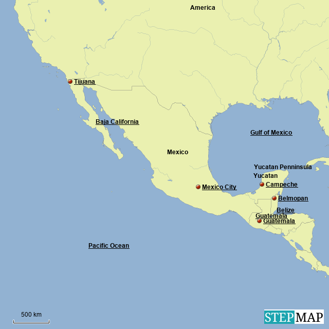 Latin America South America Map.Stepmap Latin America Map 1 Landkarte Fur South America