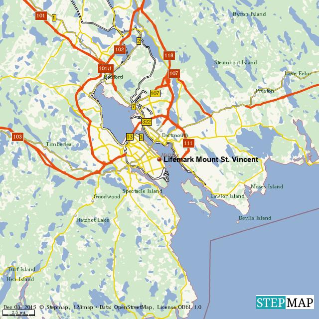 StepMap - Lifemark Mount St. Vincent - Landkarte für World
