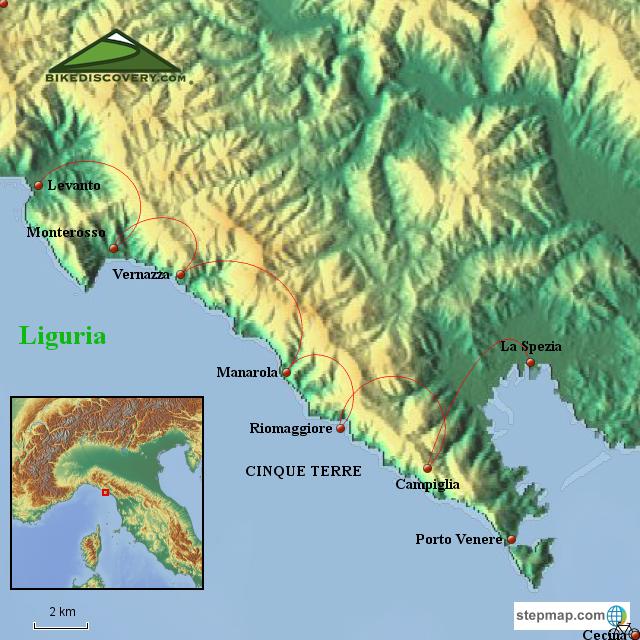 Italy Map Cinque Terre.Stepmap Map Cinque Terre Only Landkarte Fur Italy