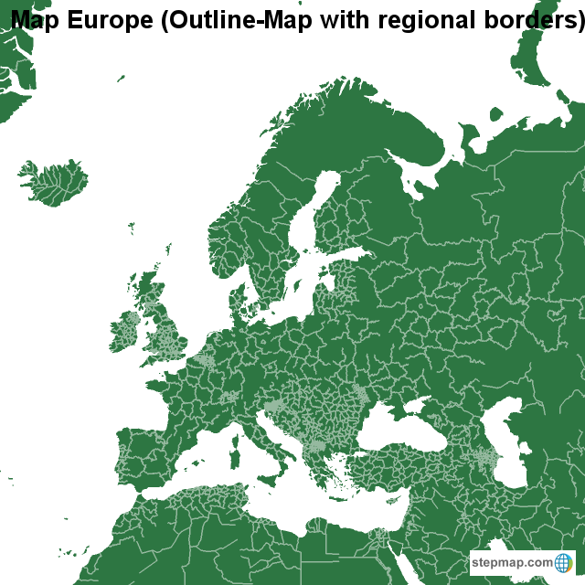 StepMap - Map Europe (Outline-Map with regional borders ... on united states of america, fields of europe, united kingdom, beaches of europe, north america, regional map america, subregions of europe, river of europe, states of europe, geographical features of europe, viking invasions of europe, regions of europe, capital of europe, european union, regional map asia, south america, regional map united states, country of europe, mao of europe, the franks of europe, regional us map, attractions of europe, black kings of europe, muslim invasion of europe,
