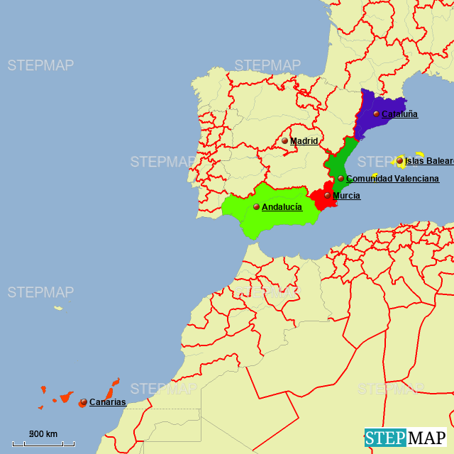 Mapa Interactivo Islas Baleares.Stepmap Mapa Interactivo Patrimonio Color Landkarte Fur