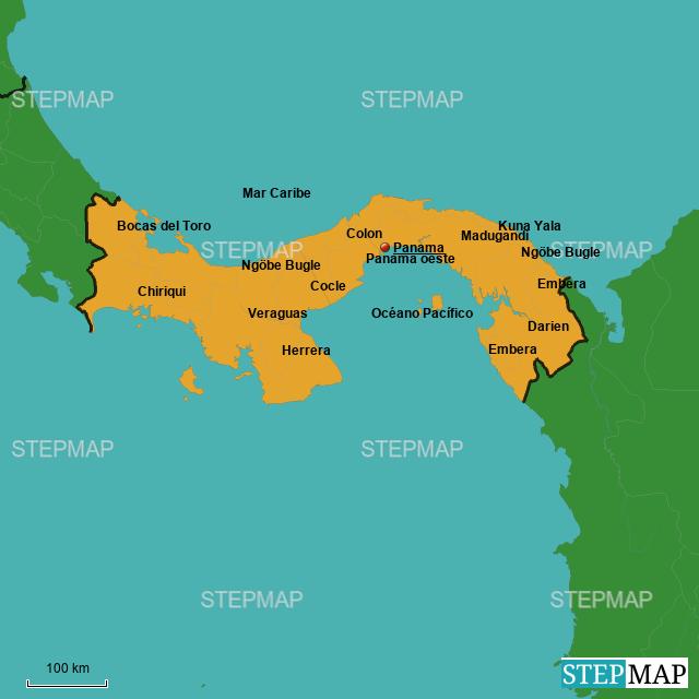 StepMap - Mapa interactivo de Panama - Landkarte für Panama