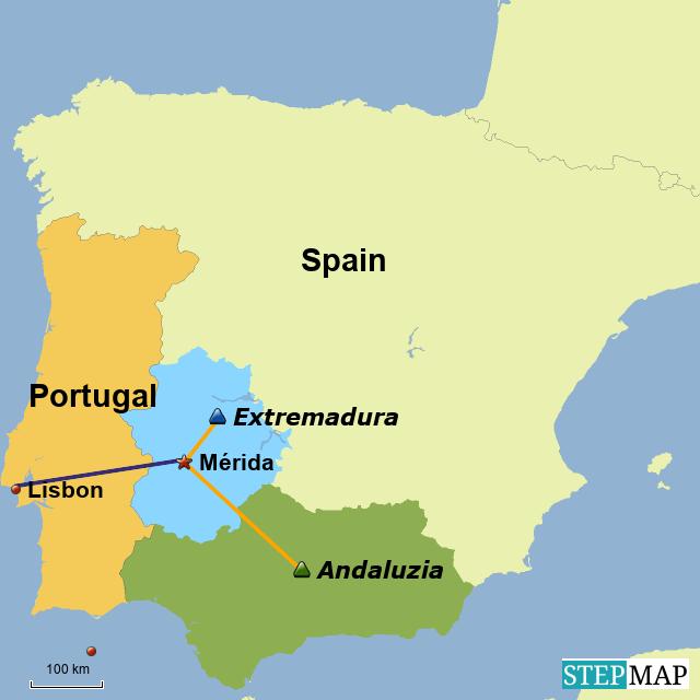Stepmap Merida Landkarte Fur Spain