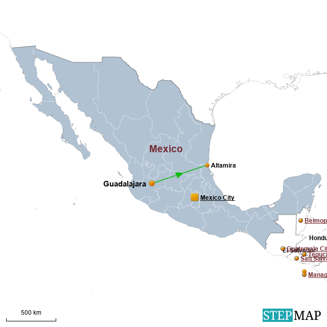 Altamira Mexico Map.Stepmap Mexico Landkarte Fur Mexico