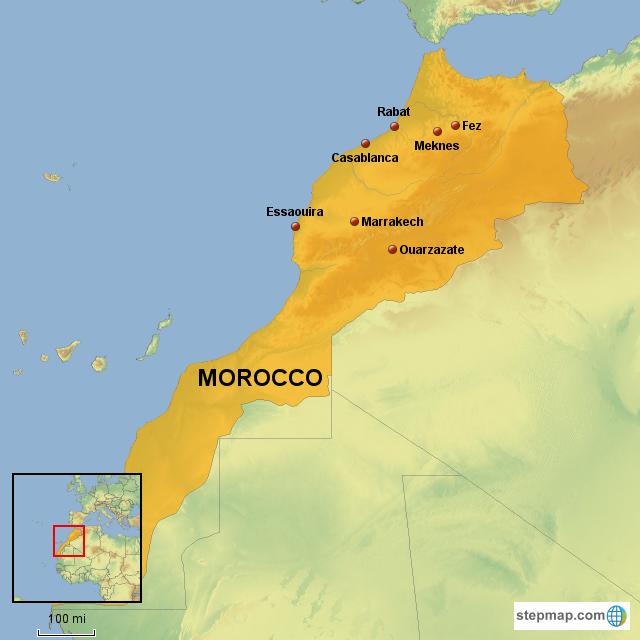 Картинка марокко на карте мира