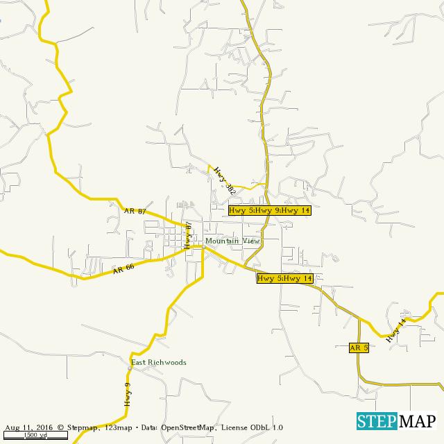Stepmap Mountain View Landkarte Fur World